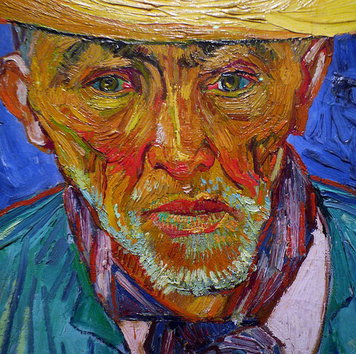 The rich, buttery oil paint of Van Gogh