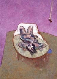 Francis Bacon: Lying Figure (1966).