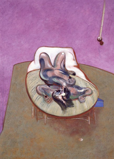Francis Bacon: Lying Figure (1966).