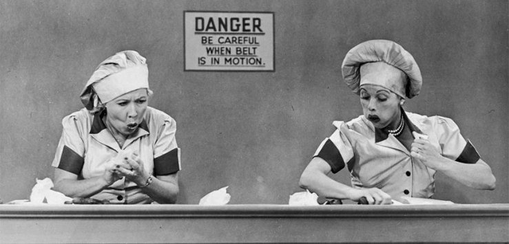 Lucy and Ethel in the Candy Factory