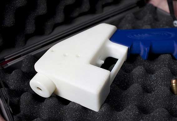 Simple plastic gun that can shoot off one round (though that's all it really takes)