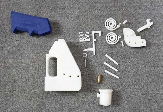 gun parts printed from plastic