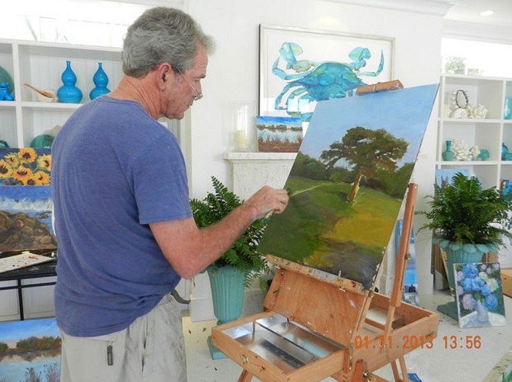 bush-in-the-act-of-painting