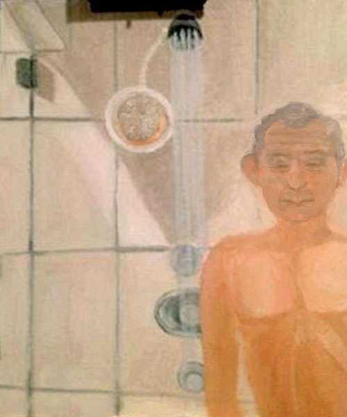 George W. Bush painting self portrait