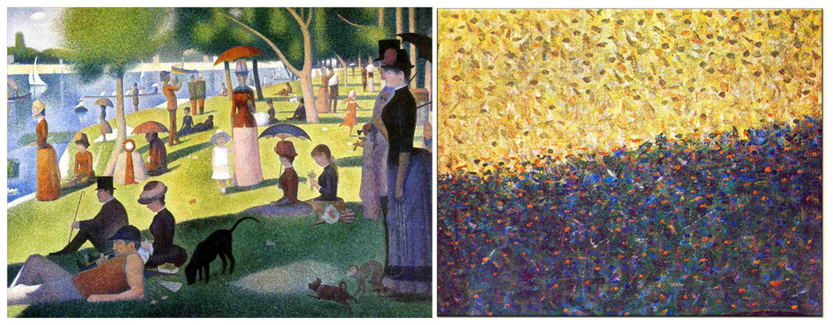 an analysis of the painting a sunday afternoon painted by georges seurat A sunday afternoon on the island of la grande jatte georges seurat — a sunday on la grande jatte analysis the painting shows a contrast of light and dark.