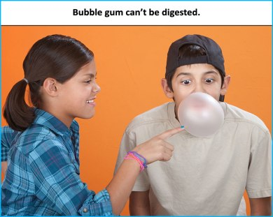 Bubble-gum-can't-be-digested