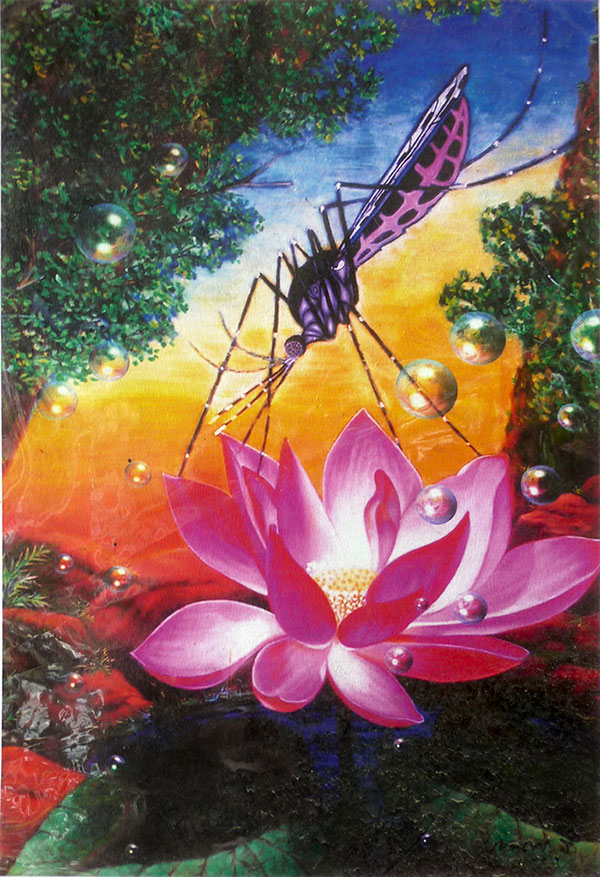 mosquito-and-lotus