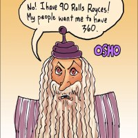 "Osho a ""no show"" (with 90 Rolls Royces)"