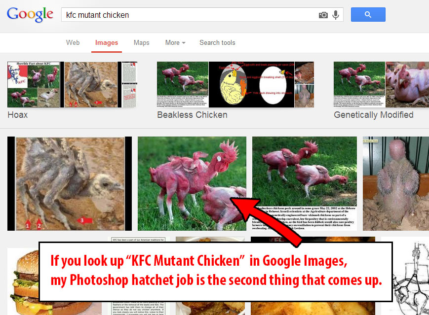 Aninimal Book: Is this mutant chicken my claim to fame?! – ART ...