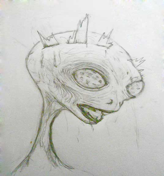 Drawing-made-alien-crucifix