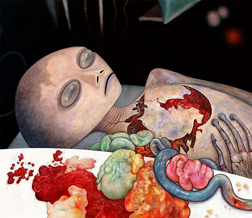 "Eric Kuns, ""Alien Autopsy"" (1997-205) digital illustration"
