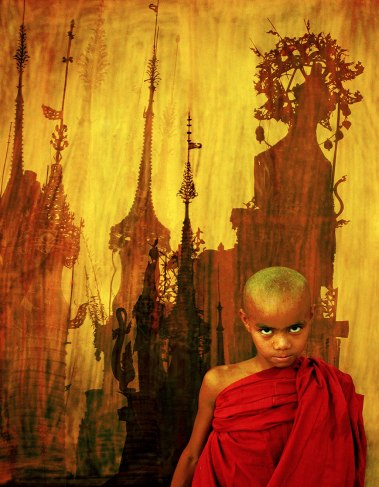Mandalay Monk & Spires