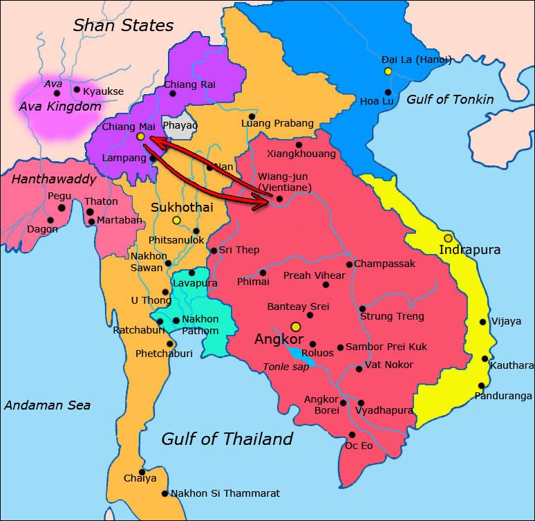 visa run from Chiangmai to Vientiane, Laos