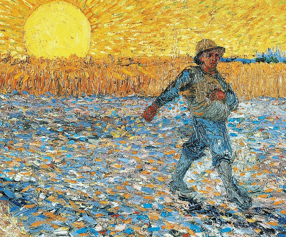 "Detail of ""The Sower 1888"" by Vincent Van Gogh"