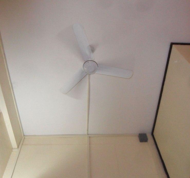 fan in hotel room Vientiane