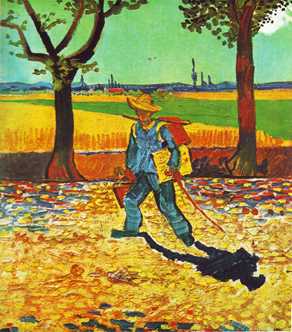 Painter on the Road to Tarascon, August 1888, Vincent van Gogh
