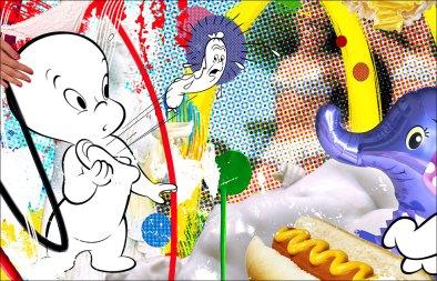 Arousing Curiosity (Parody of Jeff Koons' Paintings.)