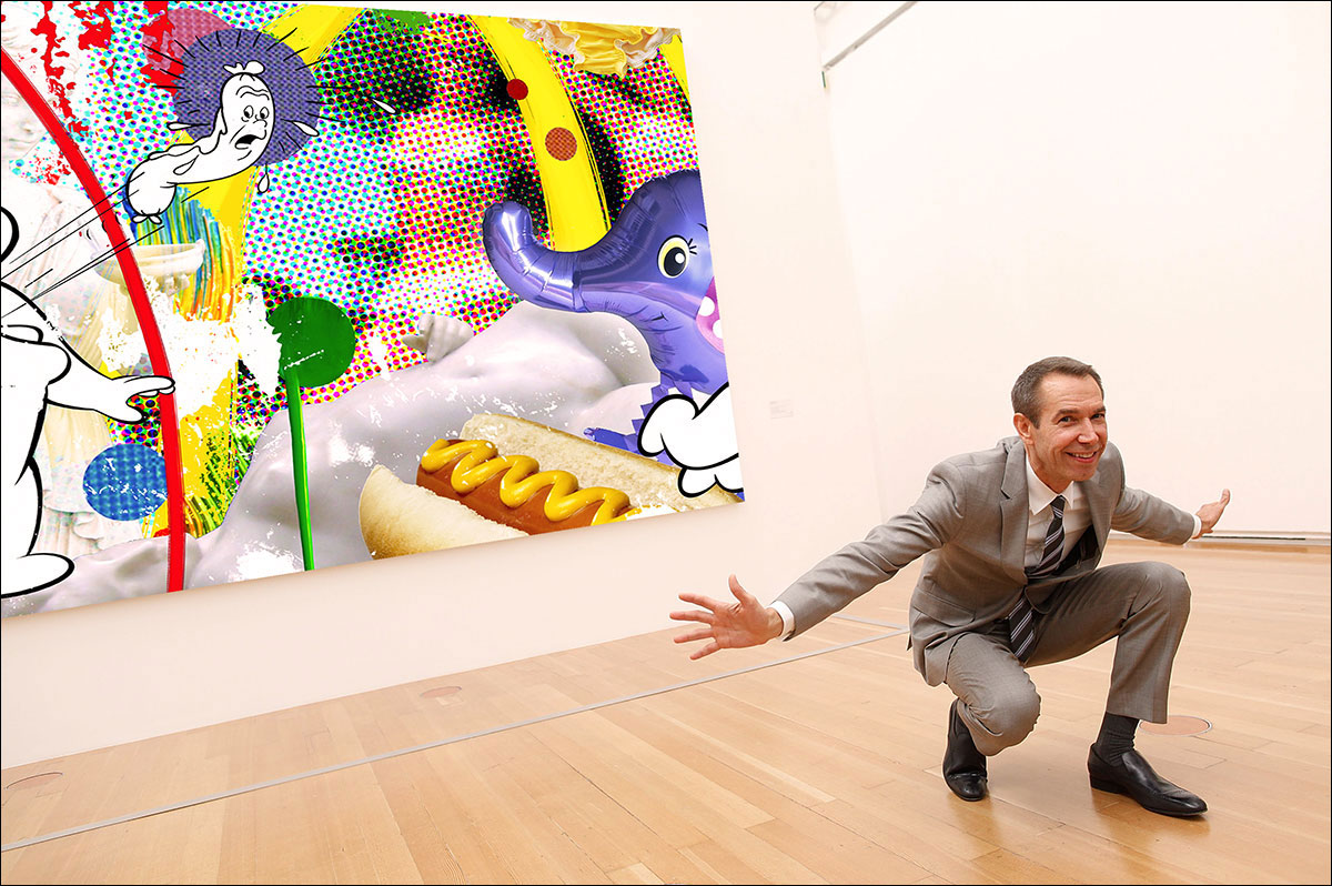 Deconstructing Jeff Koons Paintings And Why They Are An Attempt At Original Art As Opposed To His Usual Appropriations Art Crit By Eric Wayne