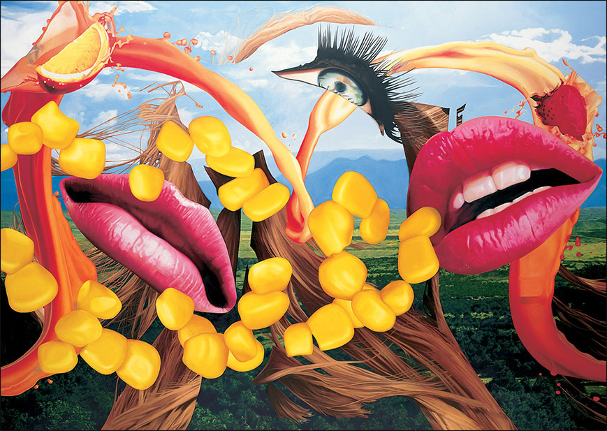 Jeff Koons Lips, 2000 Oil on canvas