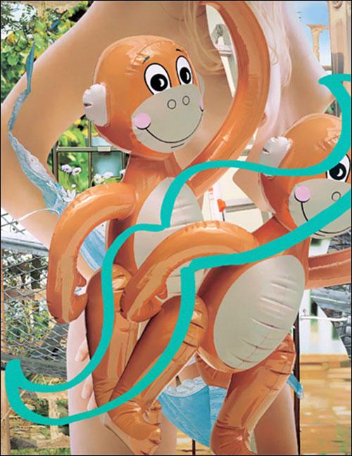 Monkeys-(Ladder),-2003,-oil-on-canva