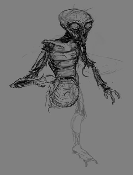First sketch of the human fly