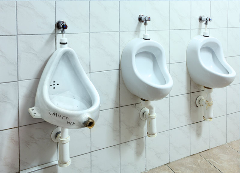 """The Urinal"" Installation by Eric Küns. Berlin, 2013."