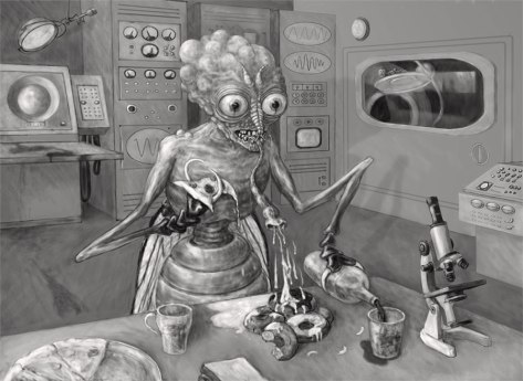 The Human Fly B&W Version, by Eric Kuns, 2013, digital image