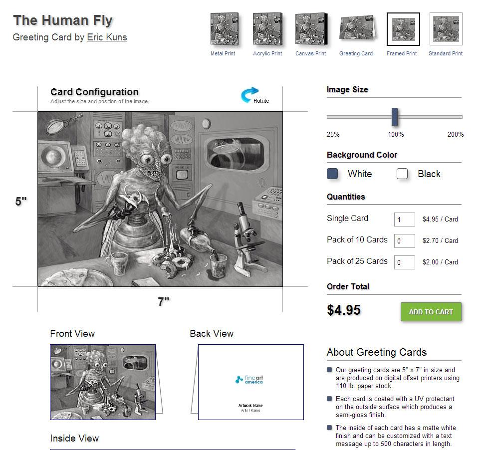 human-fly-postcard
