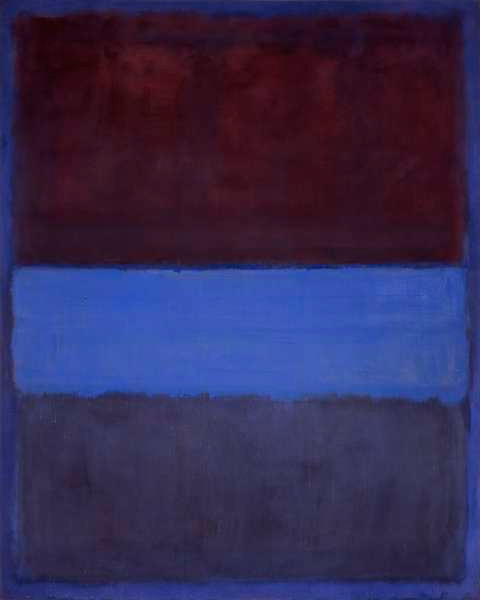 No_61_Mark_RothkoNo. 61 (Rust and Blue), 1953, 115 cm × 92 cm (45 in × 36 in). Museum of Contemporary Art, Los Angeles