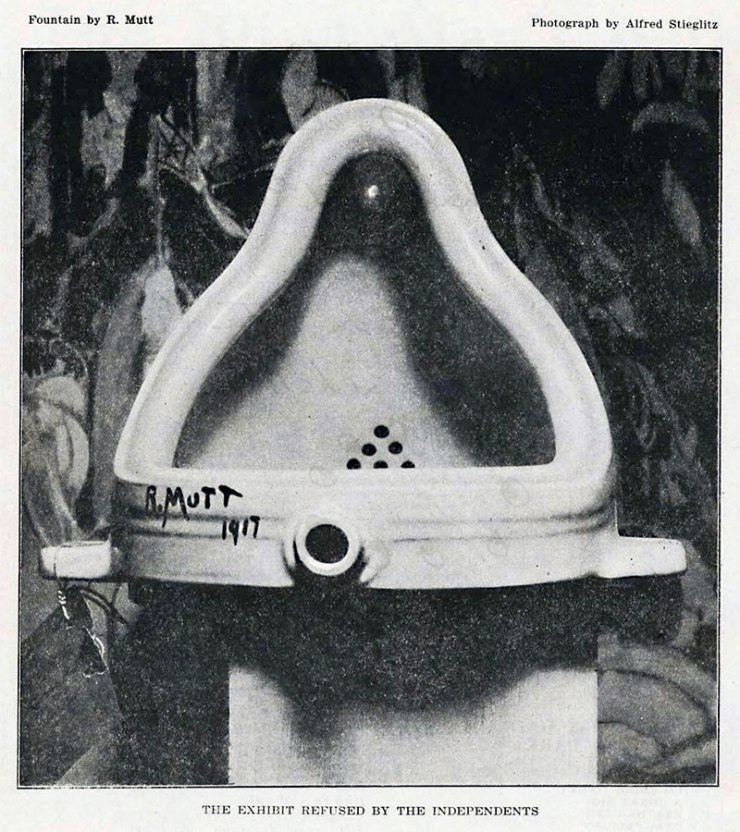 """The Fountain"" by Marcel 'R.Mutt' Duchamp. Photographed by Alfred Stieglitz"