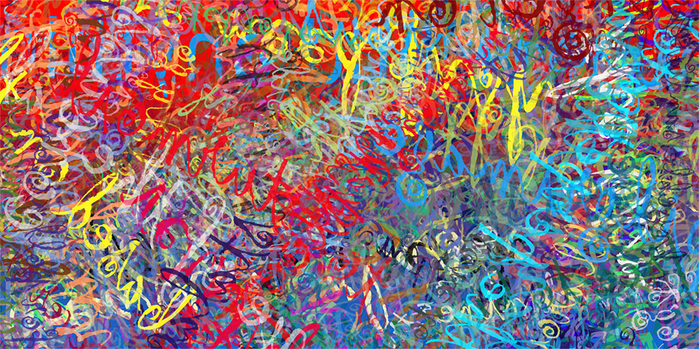 Gigi's Money, digital abstraction by Eric Kuns 2014