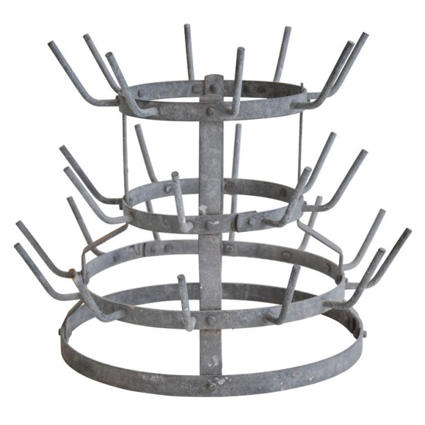 Bottle Rack, by Marcel Duchamp [bottle rack on pedestal]