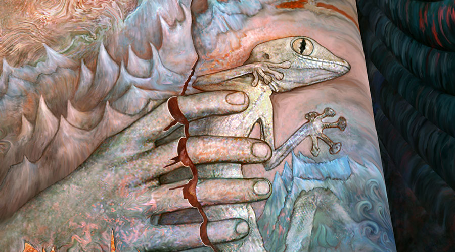 Gecko, detail of Death, Dissolution, and the Void