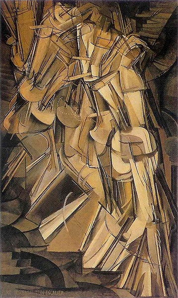 Marcel Duchamp. Nude Descending a Staircase, No. 2 (1912). Oil on canvas.