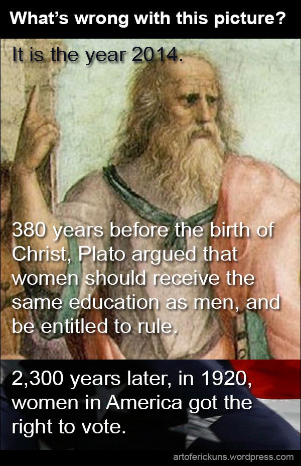 Plato, women