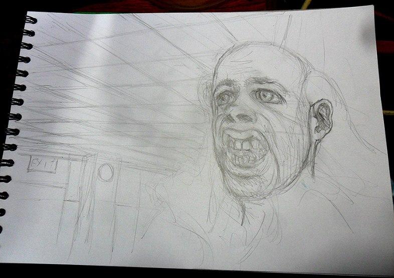 Ed in pencil