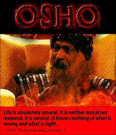 Osho quote on amorality