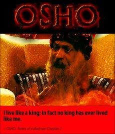 Osho quote I live like a king