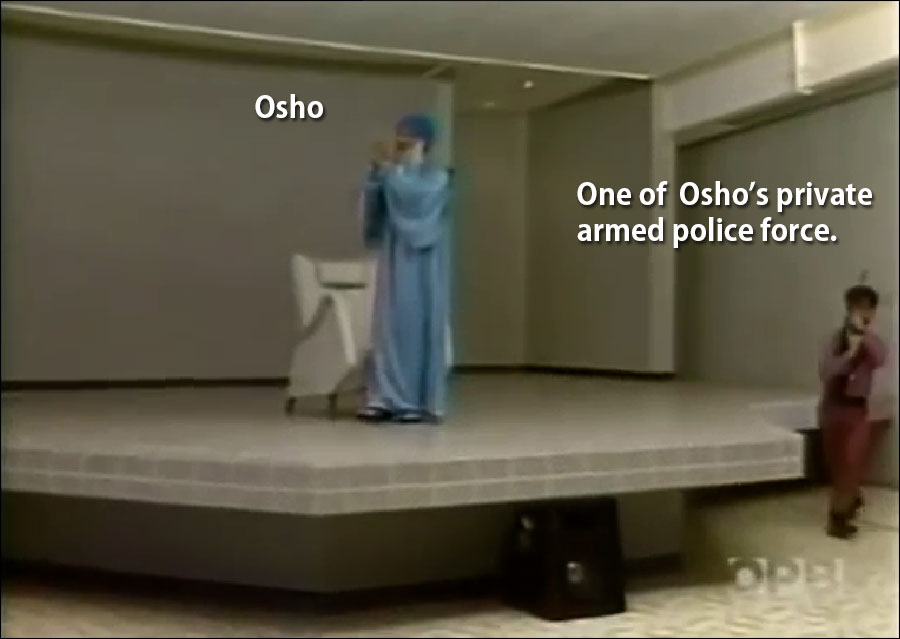 Osho-and-armed-guards