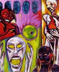 Fun House Fever. Acrylic on canvas.