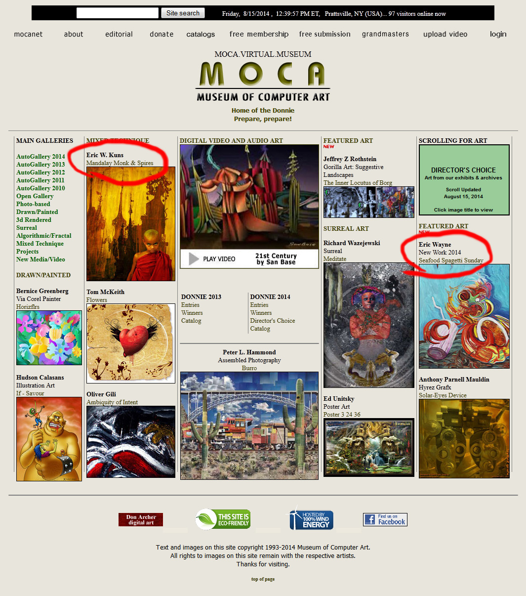 MOCA-homepage