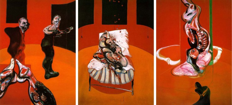 Three-Studies-for-a-Crucifixion,-1962.