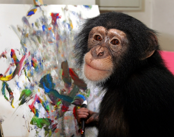 chimpanzee-painting