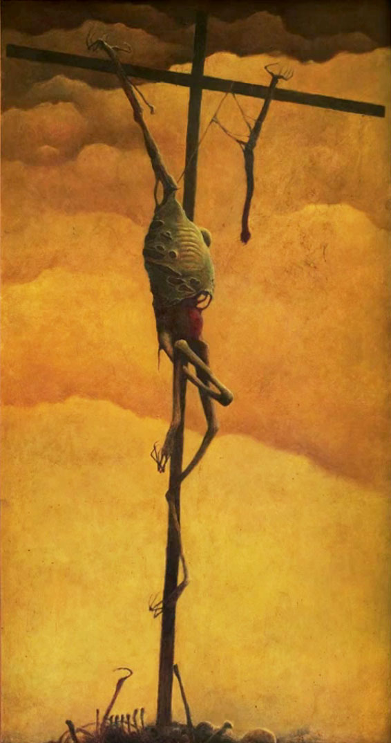 Beksinski-untitled-1969 crucifixion