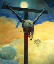 Zdzisław-Beksiński-Polish-Artist-Visions-Of-Hell-cross-2