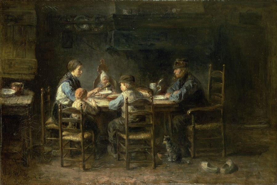 Jozef-Israëls---Peasant-family-at-the-table