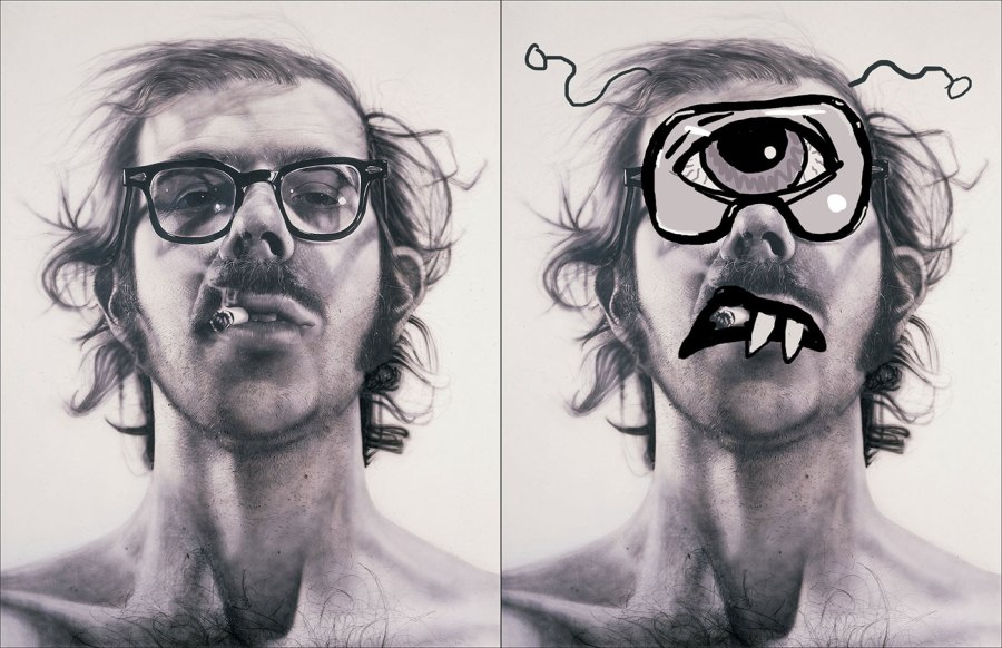 Chuck Close as a Cyclops