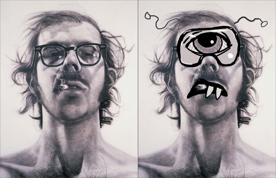 Chuck Close as a Cyclops