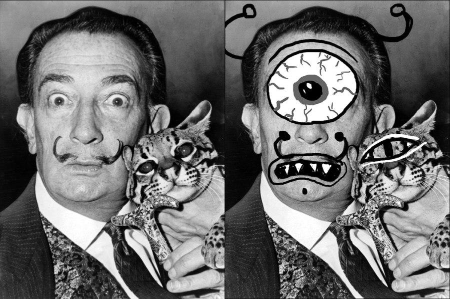 Salvador Dali as a Cyclops