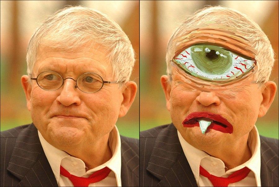 David Hockney as a Cyclops